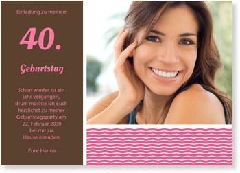 stilvolle einladung in rosa einladungskarten zum. Black Bedroom Furniture Sets. Home Design Ideas