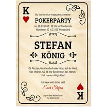 Pokerkarte - Mann