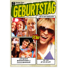 Comic in Grün