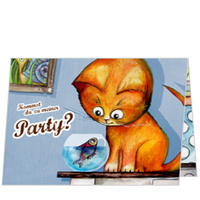 Die kleine Katze möchte feiern