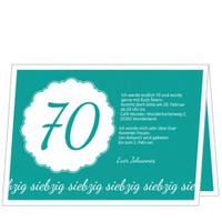 Elegante Einladung zum Siebzigsten