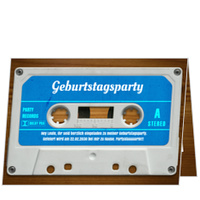 Mixtape in Blau