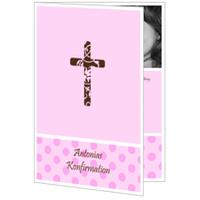 Kreuz mit rosa Pünktchen