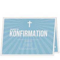 Strahlendes Kreuz in Himmelblau