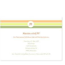 Elegante Einladung zum 50. Geburtstag