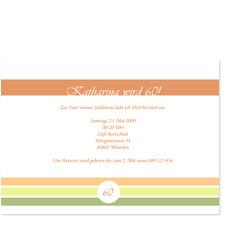 Farbenfrohe Einladungskarte zum 60.