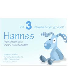 Blauer Schnuffelhund