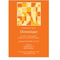 50. Geburtstag Terracotta