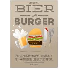 Bier und Burger in Braun