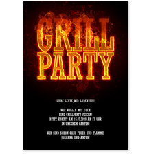 Feurige Grillparty