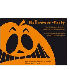 Gruseliges Halloweengesicht