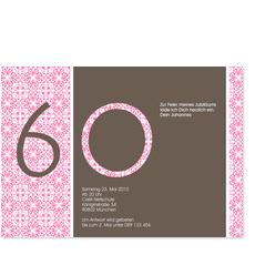 60. Geburtstag - Modern - Rosa