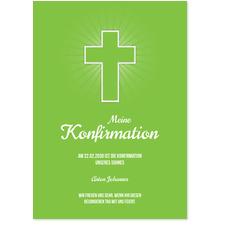 Einfaches Kreuz in Grün