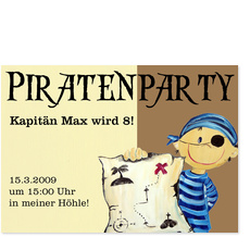 Piratenparty mit Kapitän