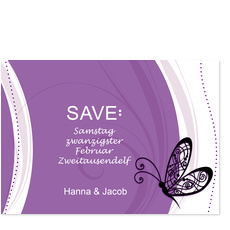 Save the Date - Schmetterling