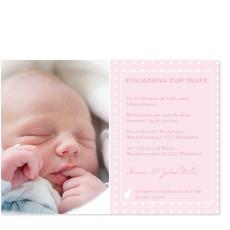 Einladung Taufe Küken - Rosa