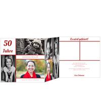 Erinnerungsfotos in Rot