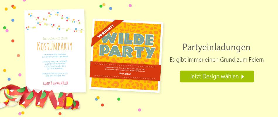 Einladungskarten Party