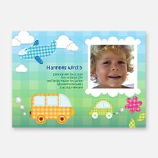 Kindergeburtstagskarten fuer Jungen
