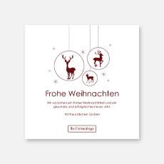 Illustrative geschäftliche Weihnachtskarten