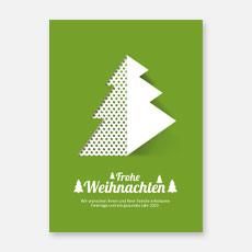 Moderne geschäftliche Weihnachtskarten