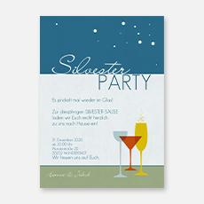 Einladungskarten Silvester