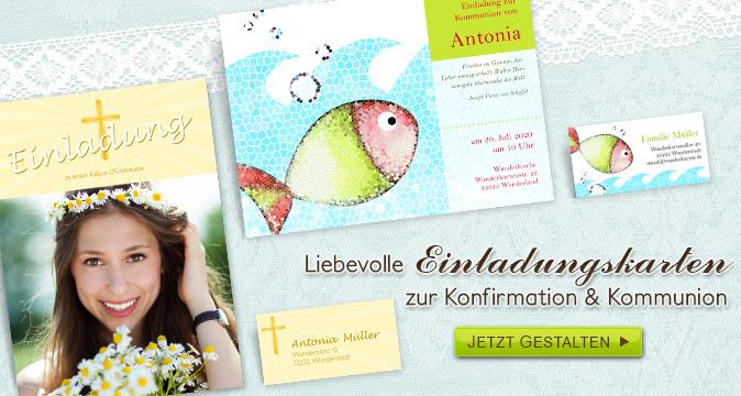 Einladungskarte Kommunion Konfirmation Welle Türkis Pictures to pin ...